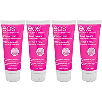 eos Shave Cream Pomegranate Raspberry 2.5 Ounces Each  Value Pack of 4