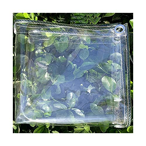 GGYMEI Transparent Tarpaulin, Waterproof Heavy Duty With Eyelet High Performance Thicken Easy To Fold Anti-UV Suitable For Outdoor Furniture, Customizable (Color : Clear, Size : 1.8x2m)