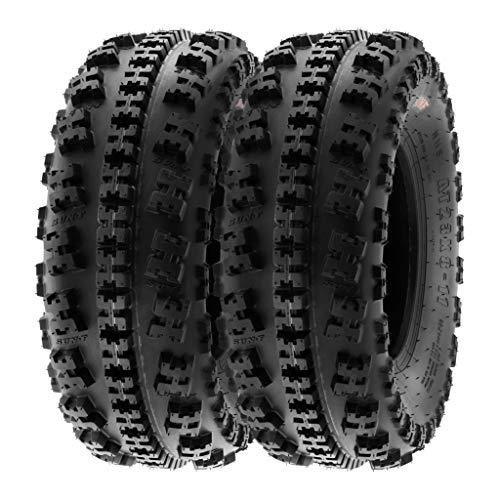 SunF A027 22x7-10 22x7x10 XC ATV UTV Reifen Sportreifen Stollenreifen mit Straßenzulassung 6PR TL 35J E Prüfzeichen, Satz von 2 Stück