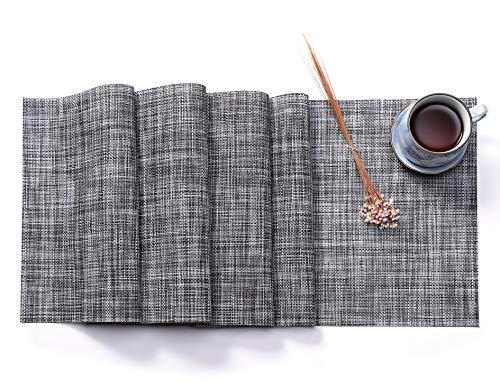 HYSENM Tischläufer Tischdecken Table Runner DREI Größen PVC, Grau 190 x 30cm