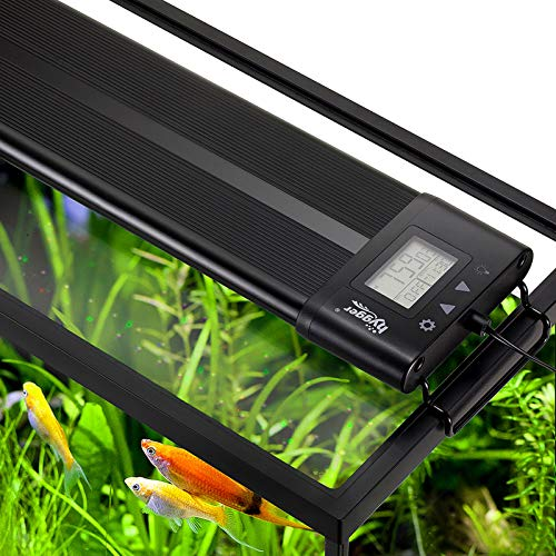 Hygger Auto On Off 48-55 Inch LED Aquarium Light Extendable Dimmable 7 Colors Full Spectrum Light Fixture for Freshwater Planted Tank Build in Timer Sunrise Sunset