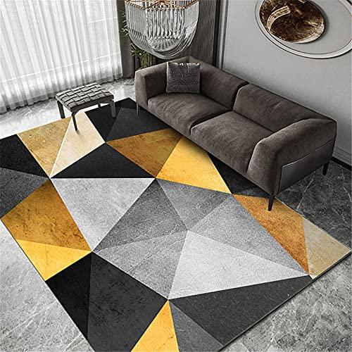 """alfonbras de Salon Grandes Alfombra de Sala geométrica Moderna Gris Negro Dorado Resistente al Desgaste decoración Salon Tatami Suelo 40X60CM 1ft 3.7"""" X1ft 11.6"""""""