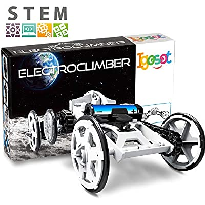 STEM Car Building, Engineering Kit, Science Project Kit, 4WD DIY Building Science Experiment For Kids, Assembly Circuit Toy Car Kit To Build, Climber Vehicle,STEM Toy For 10 9 8 11 12 Year Old Boy