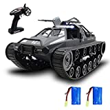 VOLANTEXRC RC Tank Car for Kids and Adults, 1:12 Scale All Terrain Monster Truck Remote Control Crawler 2.4Ghz High Speed RC Tank 4WD Remote Control Tank with 2 Batteries RC Cars Xmas for Kids & Adult