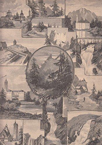 Riesengebirge - Bilder aus dem Riesengebirge, der Heimat Rübezahls. Sammelblatt mit 14 Abbildungen. [Grafik]