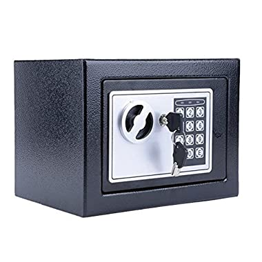 Leoneva Anti-Theft Passport Safe with Digital Lock, Cash Case Box Vault for Home, Jewelry, Gun, Cash