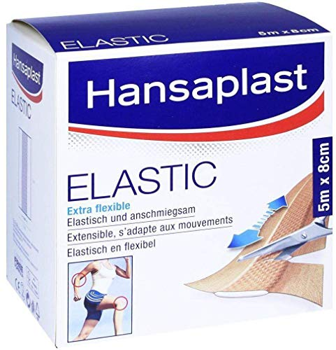 Hansaplast Elastic Pflaster 5 m x 8 cm besonders flexibel, 1 St. Pflaster