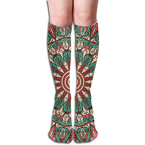 Bert-Collins Calcetines de poliéster de fondo colorido vector arabesco étnico para correr, atlético, viajes, uso diario, calcetines para mujeres y hombres