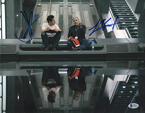 JJ ABRAMS LAWRENCE KASDAN SIGNED 11X14 PHOTO STAR WARS AUTHENTIC AUTOGRAPH BAS