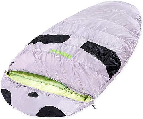 BXX Groupe familial Voyage Marchandises-Plein air Sac de couchage Augmentation de la taille Grand Camping adulte épaissi Printemps Eté Hiver Garder au chaud,gris vert,2,4 kg