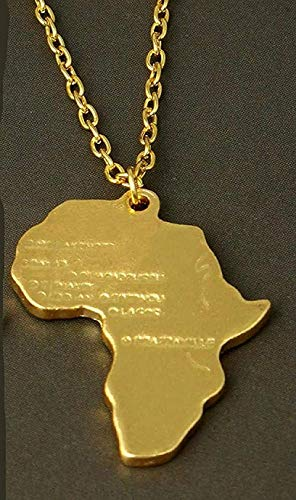 ZGYFJCH Co.,ltd Necklace Woman Necklace Africa Map Outline Necklace Heart Necklace South Africa Country Map Pendants Silhouettes Ethiopia Necklaces