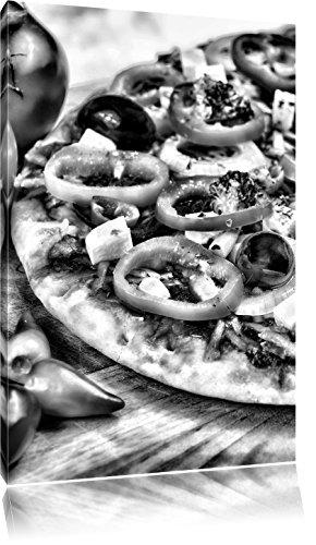 Pizza uit ItaliëFoto Canvas | Maat: 100x70 cm | Wanddecoraties | Kunstdruk | Volledig gemonteerd
