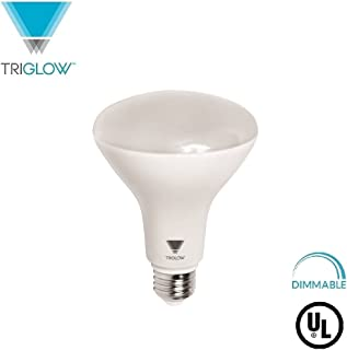 TriGlow BR40 LED Light Bulb 15 Watt (100 Equivalent) Flood Light Dimmable 1200 Lumens Indoor/Outdoor 25000 Hrs, Use in Home, Office - UL Listed (4100K (Cool White), 1-Pack)