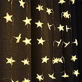 Uping Led Lichterkette Sterne 30er Batterienbetriebene für Party, Garten, Weihnachten, Halloween, Hochzeit, Beleuchtung Deko usw. 4,5M warm weiß - 2