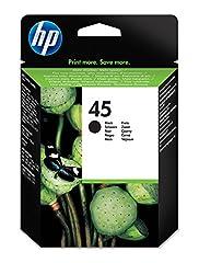 HP 45 ink cartridges work with: HP Deskjet 1000, 1120, 1600, 815, 830, 832, 855, 9300, 930, 932, 960, 980. HP Officejet g55, g85, k80, r40, r45, r60, r65, r80, t45, t65. HP Officejet Pro 1150, 1170, 1175. Up to 2x more prints with Original HP ink vs ...