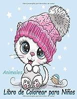 Animales Libro de Colorear para Niños: Libro de colorare para niños y niñas con 100 motivos de animales - Relajantes Libros Para Colorear Para Niños De 2-4, 3-6 Años - erizo,vaca,león,ciervo,panda