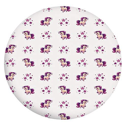 Mantel ajustable de poliéster con bordes elásticos, para mesas redondas de 142 a 152 cm