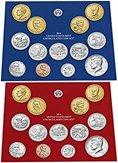 2016 P D US Mint Set 28 Coins in Original Packaging Brilliant Uncirculated