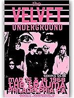 ロックンロールミュージックバンドベルベット地下キャンバス絵画ポスターhdプリント壁アートリビングルーム家の装飾 40X60cmフレームなし