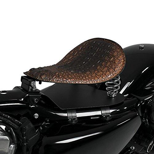 Asiento Solo de muelles SG16 marrón Kawasaki VN 2000/ Classic, VN 800/ Classic, VN 900 Classic/Custom/Light Tourer, Vulcan 900 Classic/Custom, Vulcan S/Café