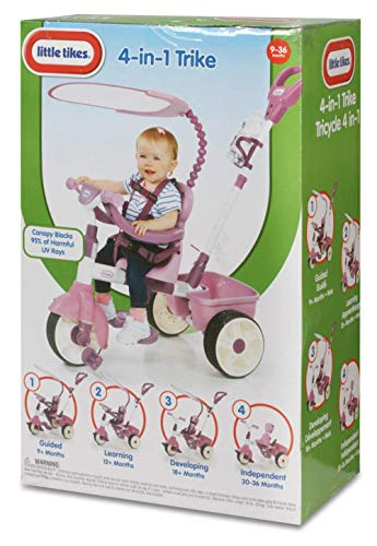 Little Tikes 4in1 Basic Edition Trike  Pink 4450 L x 2000 W x 3950 H Inches