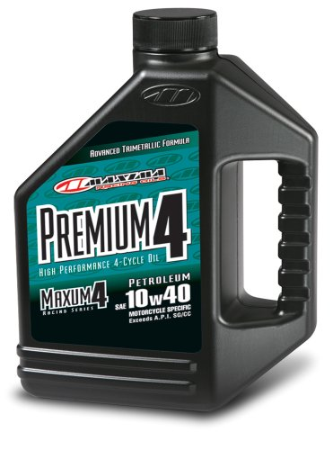 Maxima (349128 Premium4 10W-40 Motorcycle Engine Oil - 1 Gallon