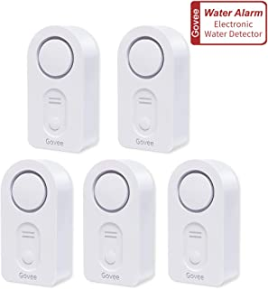 Govee Water Detectors, Wireless Water Leak Detector with 100 DB Loud Alarm, Water Sensor with Sensitive Leak Probes, Water Sensor Alarm for Kitchen Bathroom Basement Floor(Battery Included)-5 Pack