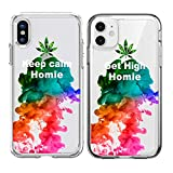 Shark Compatible with Marijuana Weed Keep Calm Get high My Homie Best Friends Style Matching Couple Cases for iPhone 11