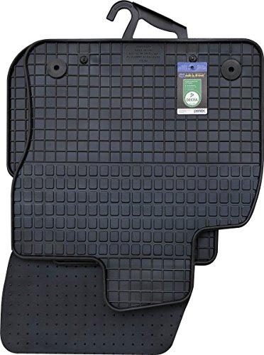 PETEX 63810 Gummimatten für passend für Tiguan ab 42461 Fußmatten schwarz 4-teilig