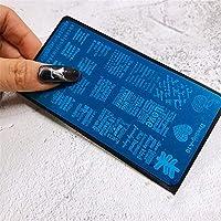 ネイルアートスタンピングテンプレートセット、DIYネイルアートデザインのための花アニマル柄マニキュアを印刷ツール,10