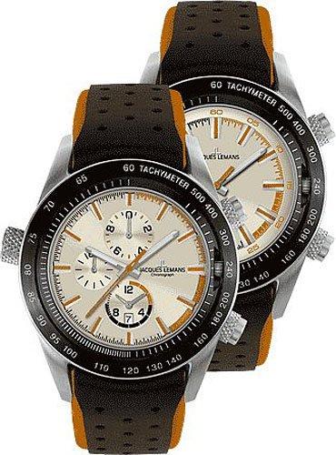 833f82606ba Check price Jacques Lemans Turnable Dualtime Chrono 1 1515D ...
