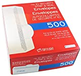 (2 Pack) No. 10 Envelopes, Strip & Seal, Security Tinted, 24lb White Paper 500 Count - PSTF10NWT