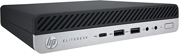 HP EliteDesk 800 G5 Mini (Latest Generation) Intel Core i5-9500 9th Gen (Six Core, 3.0Ghz) 8GB DDR4 RAM 256GB PCIe SSD Int...
