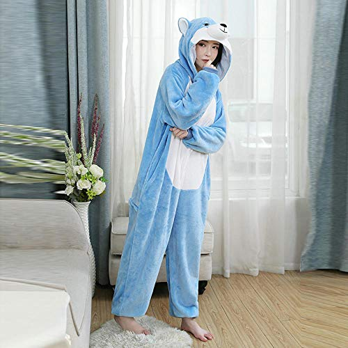 MA Pijama Pijama Unisex de Shiba Inu prpura, Pijama para Adultos, Disfraces de Cosplay, Ropa de Dormir, Mono, Ropa de Fiesta de Navidad y Halloween-Perro_SG