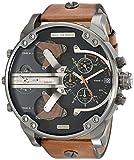 Diesel Men's DZ7332 Mr Daddy 2.0 Gunmetal Brown Leather Watch
