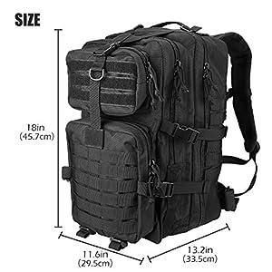 Procase Tactical Backpack 42l Large Rucksack 3 Day Outdoor Military Army Assault Pack Go Bag Backpacks Black