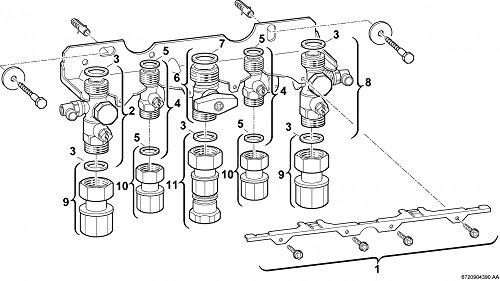 Junkers Nr. 991 Aufputz Montageanschlussplatte für ZWB und ZWN Kombithermen