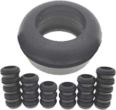 Rubber Grommets 3/4 Inch ID, Donut Rubber Grommet Ring drilled 1 1/8 Inch Hole using SCH40 1/2 inch Hydroponic PVC pipe and 25mm or 3/4 Inch Barbed Elbow Tee Straight Y Connector (Pack of 25)