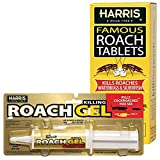 Harris Roach Killer Tablets and Gel Combo Pack, 6oz Tablets and 60g Gel