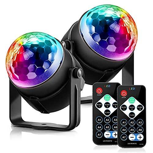 SONGYU Luz de Vacaciones 3 Modos de Control RGB LED Efecto de...