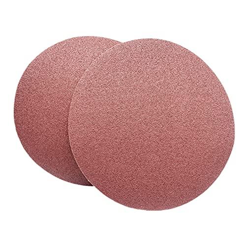 FEIHU Lot de 30 disques autocollants rouges Ø 230 mm Grain 6 x P60, P80, P120, P180, P240 pour ponceuse à bande   Ponceuse à disque   Papier abrasif à disque (papier abrasif PAS)