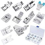 Kit de piezas de repuesto para prensatelas multifunción, Netspower Juego de accesorios para pies prensatelas de 11...