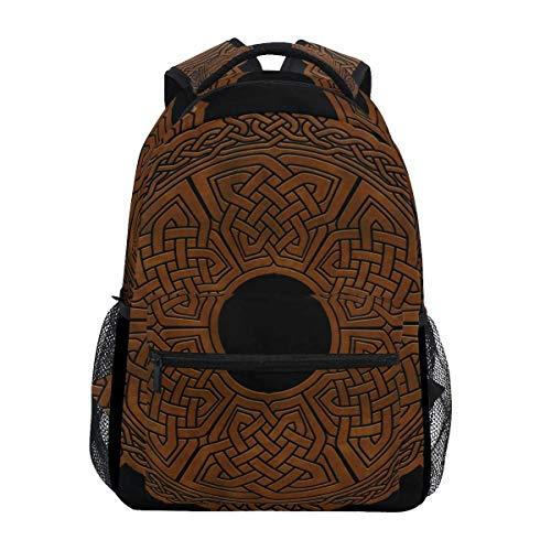 VLOOQ-HX Stilvoll Keltischer Wikinger-Skandinavier Rucksack-Leichte School College Reisetaschen 16 X 11,5 X 8 Zoll