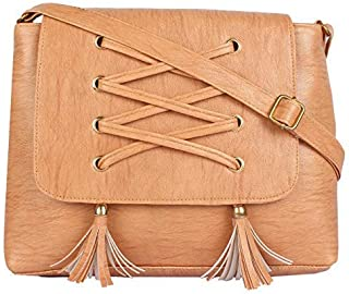 RITUPAL COLLECTION - Identify Your Look, Define Your Style Women's PU Brown Sling Bag