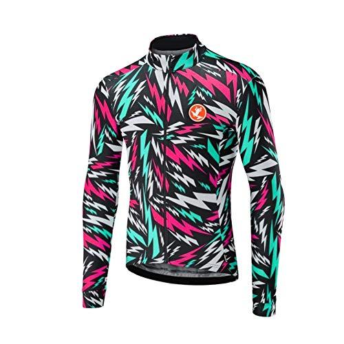Uglyfrog 2019 MTB Rennrad Radtrikot Rennrad Herren Lange Ärmel, MTB Winter Warm Fahrradbekleidung Top Herren Cycling Shirts Fahrrad Trikot Langarm Reflektierend