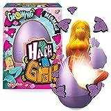 Hatch 'N' Grow Huevo Sorpresa - Sirena de Deluxebase. Huevo Grande para incubar de 11 cm con un Juguete de fantasía. Al colocarlo en el Agua aparecerá un Juguete mágico, es Ideal para niños y niñas
