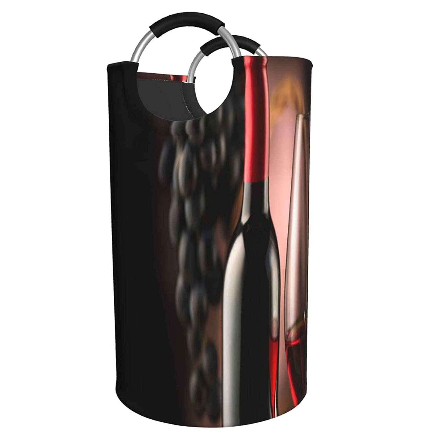 ZXZNC 82L Large Laundry Max 68% OFF Basket Red G Glass Wine Bottle With Free Shipping New Ripe