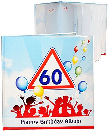 alles-meine.de GmbH Geburtstag -  60 Jahre - Happy Birthday  - Erinnerungsalbum / Fotoalbum - Gebunden zum Einkleben & Eintragen - Album & Erinnerungsbuch - Fotobuch / Photoalb..