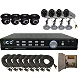 8CH Network Security Surveillance DVR 500GB 8 CCD Cameras KIT