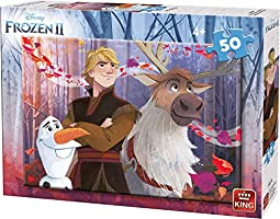KING 55817 Frozen 2 Disney II Jigsaw Puzzle-50 Pcs-2 Assorted, Plain